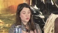Astrid BergesFrisbey on what she thought of the POTC movies at the Pirates of the Caribbean On Stranger Tides Press Conference at London England