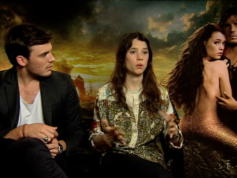 Astrid BergesFrisbey Sam Claflin on joining the POTC franchise and more at the Pirates of the Caribbean On Stranger Tides junkets at London England