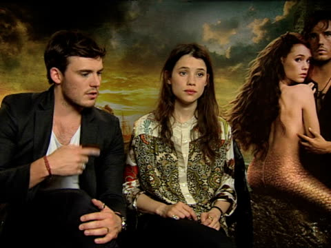 Astrid BergesFrisbey Sam Claflin on their relationship not feeling pressure and more at the Pirates of the Caribbean On Stranger Tides junkets at...