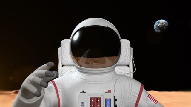 Astronaut On The Mars Surface