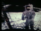 Astronaut running toward lunar lander on Moon / Apollo 17