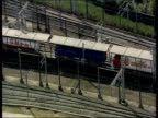 Asylum Seekers Injured in Channel Tunnel LIB Folkestone Train carriages along track from Channel Tunnel