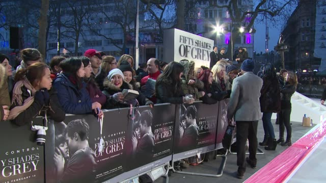 ATMOSPHERE at 50 Shades of Grey UK premiere on 12th February 2015 in London England