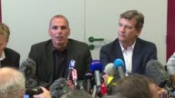 At a press conference on Sunday Greek exMinister of Finance Yanis Varoufakis says he is in France to discuss ways to 'revitalize' European democracy