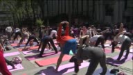 WPIX at Bryant Park on May 21 2014 in New York City