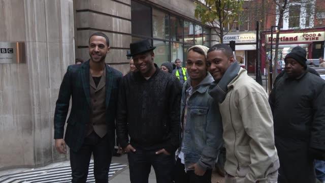 JLS at Celebrity Video Sightings on December 12 2012 in London England