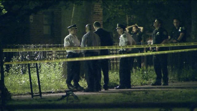 At Crime Scene At Night on June 18 2013 in New York New York