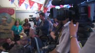 ATMOSPHERE at Dolly Parton Press Conference at Glastonbury Festival Site on June 29 2014 in Glastonbury England