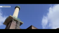 CHYRON at First View Of The Newly Rebuilt Chimney At Battersea Power StationFirst view of the newly rebuilt chimney at at Battersea Power station on...