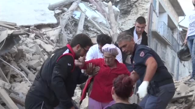 At least 18 people have died after a powerful earthquake struck central Italy according to local officials