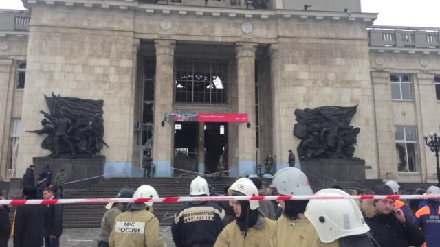 At least 18 people were killed and dozens injured Sunday when a suicide bomber blew herself up in a train station in the Russian city of Volgograd...