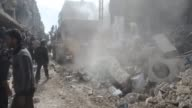 At least 23 people were killed and 50 others were injured in Assad regime airstrikes that targeted Douma an area 10 km northeast of Damascus Syria on...