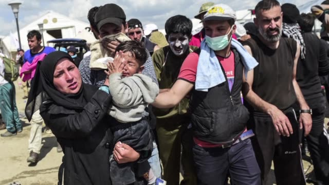 At least 260 migrants were hurt on Sunday when police fired tear gas at crowds of people as they tried to break through the Greece Macedonia border...