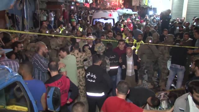 At least 37 people have been killed and more than 180 wounded after twin suicide bombings rocked a stronghold of Lebanons Shiite Hezbollah movement...