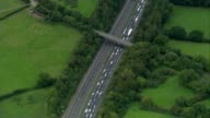 At least 4 people killed in crash on M5 AIR VIEW Tailback on M5