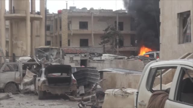 At least three people were killed with many wounded when Syrian Regime forces staged an airstrike at National Hospital in Idlib city of Syria...
