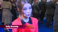 CHYRON at Legend UK Film Premiere at Odeon Leicester Square on September 03 2015 in London England