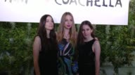 HAIM at Official HM Loves Coachella Party At the Parker Palm Springs on April 10 2015 in Palm Springs California
