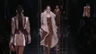 RUNWAY at Paris Fashion Week Balmain aw17 catwalk show on March 02 2017 in Paris France