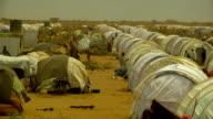 at refugee camp Overview of refugees' barracks on July 30 2011 in Dadaab Kenya
