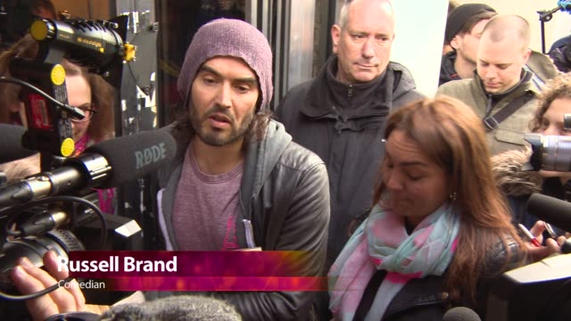 CHYRON at Russell Brand opens The Trew Era Cafe on March 26 2015 in London England