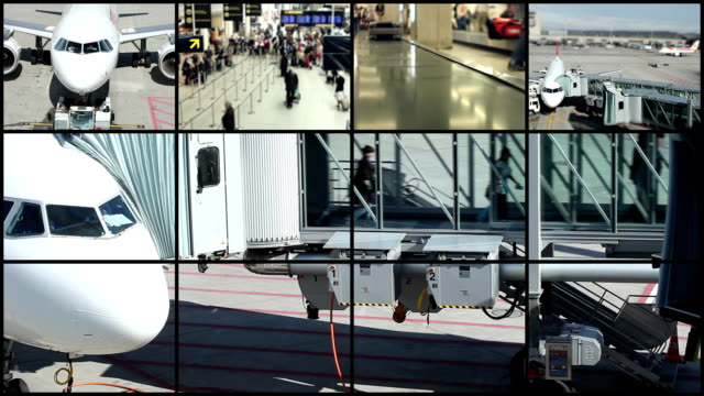 At the airport - Montage