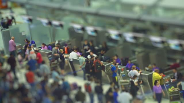 At the airport,tilt shift effect