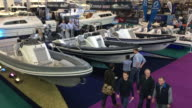 at the annual London Boat Show at ExCel on January 6 2017 in London England The show runs from the 6th to 15th January and is now in its 60th year of...