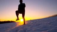 SLO MO allenamento nella neve