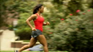 Athletic Female Runs from Left to Right - Ws