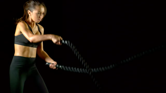 Athletic Woman Workout gym Slow-Motion