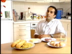 Atkins diet health fears 2SHOT Bread pasta on plate Dr John Briffa interviewed SOT When we eat carbohydrates body's metabolism shifts more prone to...