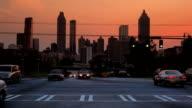 Atlanta City Building Skyline and Traffic