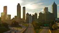 Atlanta Sonnenuntergang Zeitraffer
