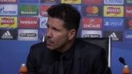 Atletico Madrid manager Diego Simeone speaks after his side reached the Champions League semi final with a 21 aggregate win over Leicester