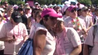 Atmosphere at the Seventh Annual Los Angeles Avon Walk for Breast Cancer at Long Beach CA