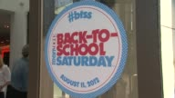 Signage at Teen Vogue Launches National Shopping Holiday BackToSchool Saturday on 8/11/12 in Los Angeles CA