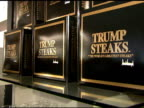 Trump Steak Signage at the The Sharper Image Presents Exclusive Launch of Trump Steaks at the Sharper Image at Rockefeller Plaza in New York New York...