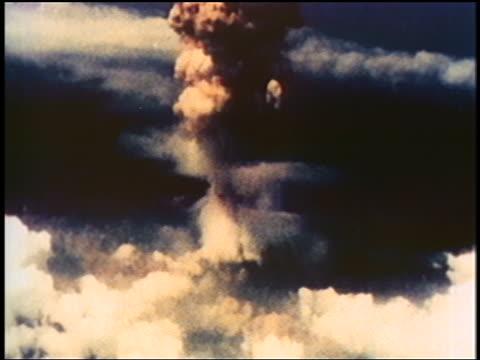 AERIAL atomic bomb exploding on Nagasaki / documentary