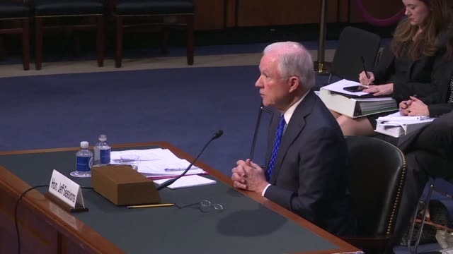 US Attorney Geenral Jeff Sessions testifies before the Senate Judiciary committee