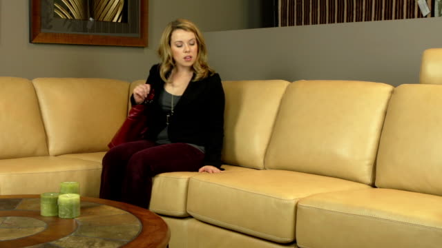 Attractive woman shopping in furniture store