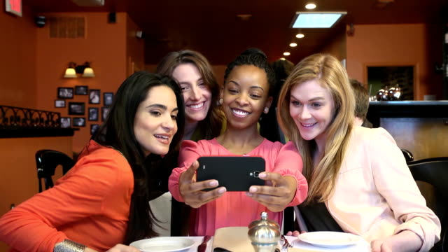 Attractive Young Ladies Take Candid Photo of Themselves