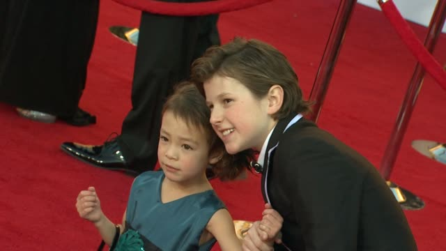 Aubrey AndersonEmmons Nolan Gould at 18th Annual Screen Actors Guild Awards Arrivals on 1/29/12 in Los Angeles CA