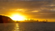 Auckland City Sunset Timelapse