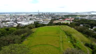 Auckland downtown with Sky Tower from Mount Eden.