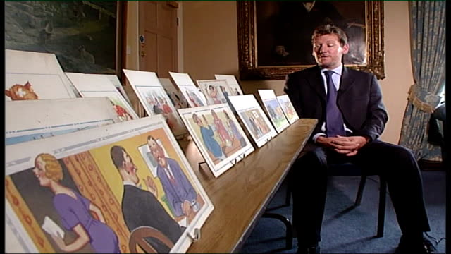 Auction of saucy postcards Nigel Smith interview SOT they don't come up for auction every day / they're worth as much as people pay for them / we've...