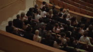 MS Audience in formal attire seated in various sections of concert hall