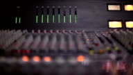 Audio level on a mixing console