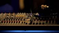 Audio mixer control panel.