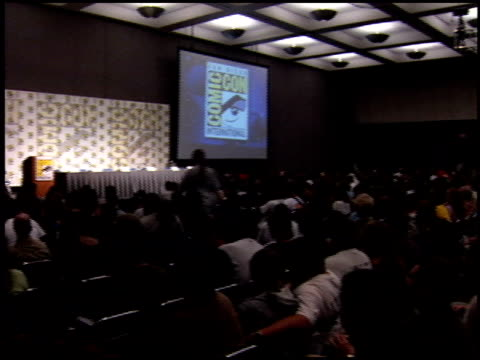auditorium at the Comiccon on July 14 2005